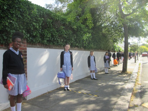 Children return to school